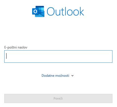 Nastavitev Outlook